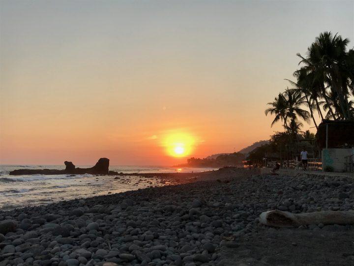 Sunset over the rocks in El Tunco El Salvador, El Salvador Travel Blog