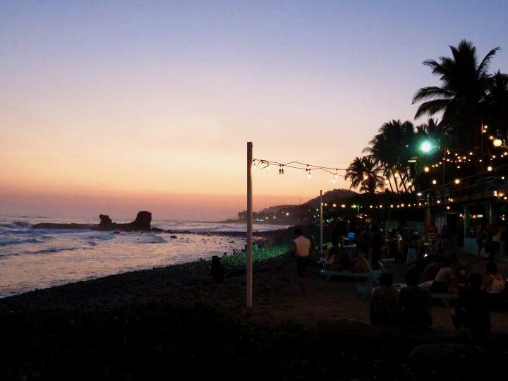 Sunset at restaurant and accommodation Monkey LaLa El Tunco El Salvador, El Salvador Travel Blog