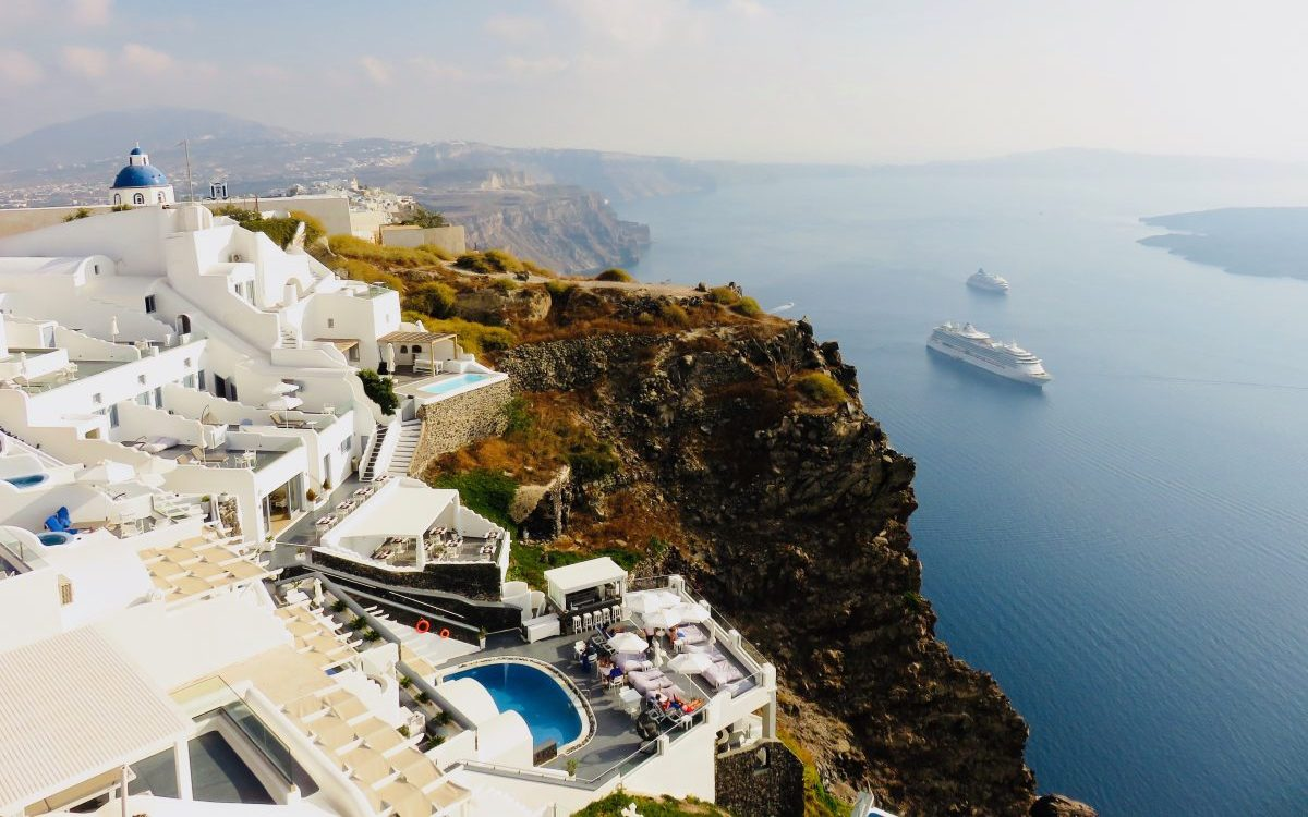 Santorini spectacular view Greece, Greek Cyclades Travel Blog