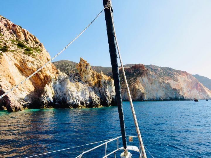 Sailing around Milos Greece, Greek Cyclades Travel Blog