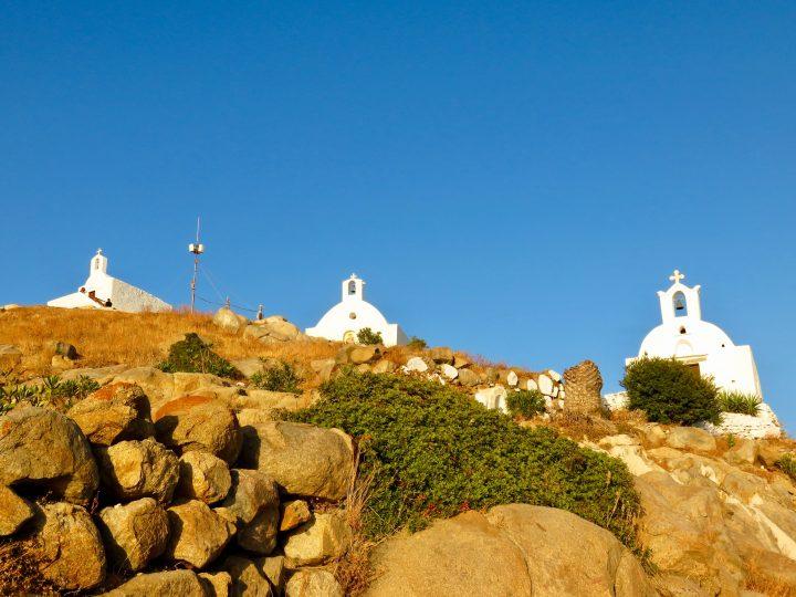 Church Walk to top of Ios Greece, Greek Cyclades Travel Blog