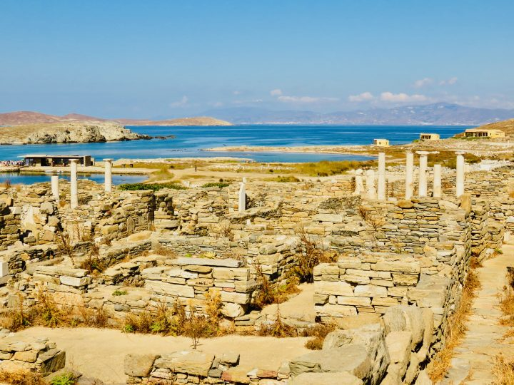 Delos overview old town of Delos Greece, Greek Cyclades Travel Blog