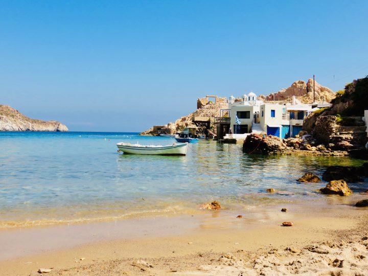 Firopotamos beach at Milos Greece, Greek Cyclades Travel Blog