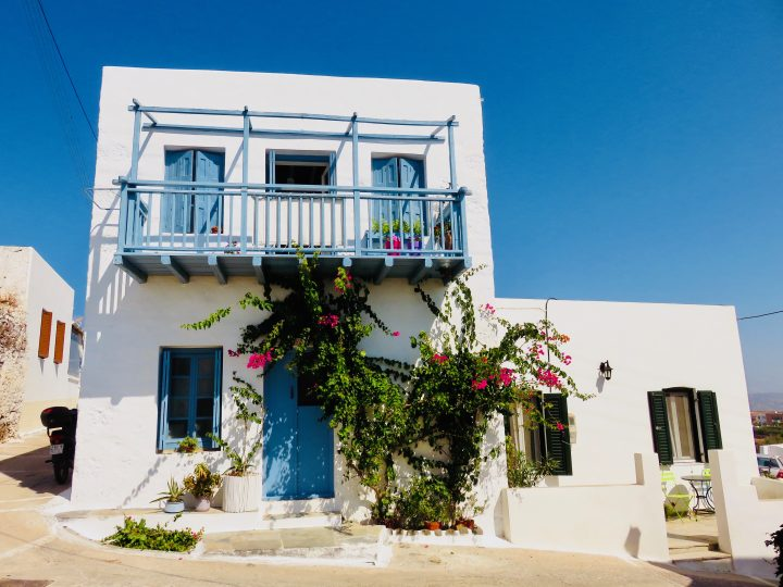 Typical Houses in Trypiti Milos Greece, Greek Cyclades Travel Blog