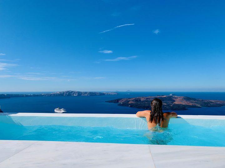 Let me inspire you at Pool White Ark Santorini Greece, Greek Cyclades Travel Blog