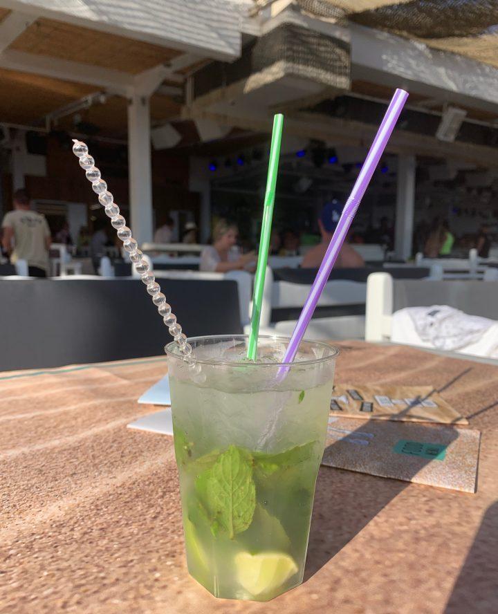 Moijito at Paradise Beach Mykonos Greece, Greek Cyclades Travel Blog