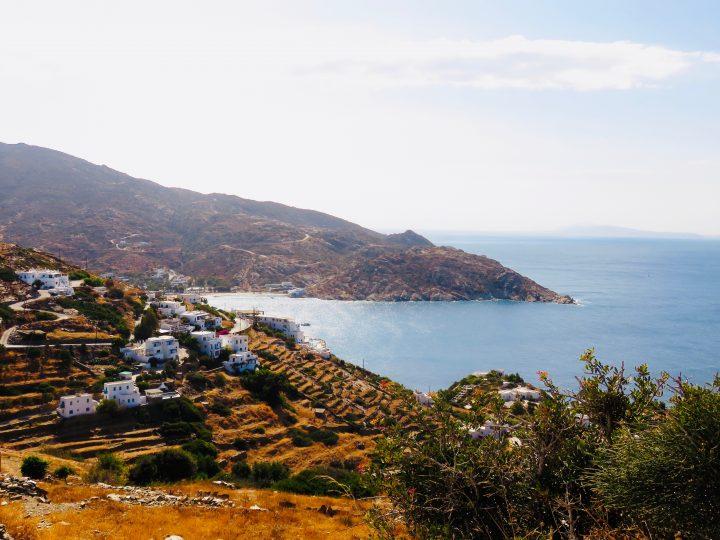 Overview of Mylopotas Beach on Ios Beach, Greek Cyclades Travel Blog