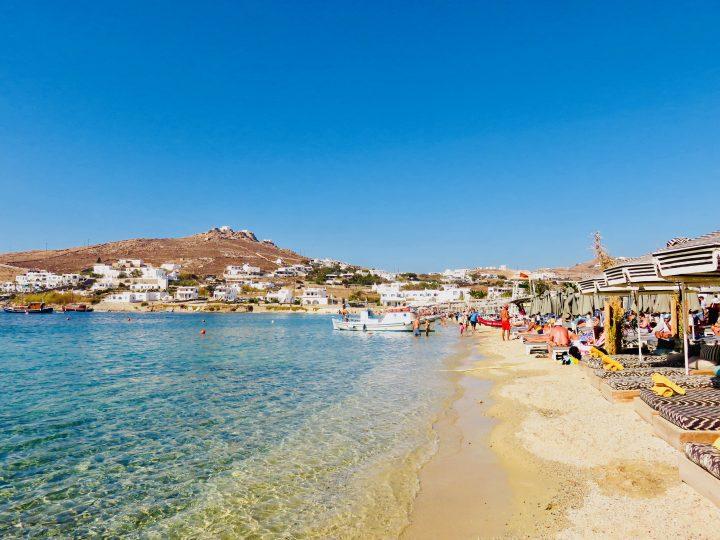 Ornos Beach on Mykonos Greece, Greek Cyclades Travel Blog