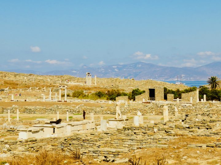 Overview old town of Delos Greece, Greek Cyclades Travel Blog
