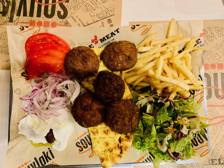 Traditional food Plater Mykonos Greece, Greek Cyclades Travel Blog