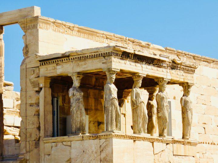 Porch Caryatids Athens Greece, Greek Cyclades Travel Blog