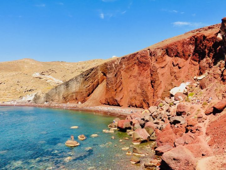 Red Beach Santorini Greece, Greek Cyclades Travel Blog