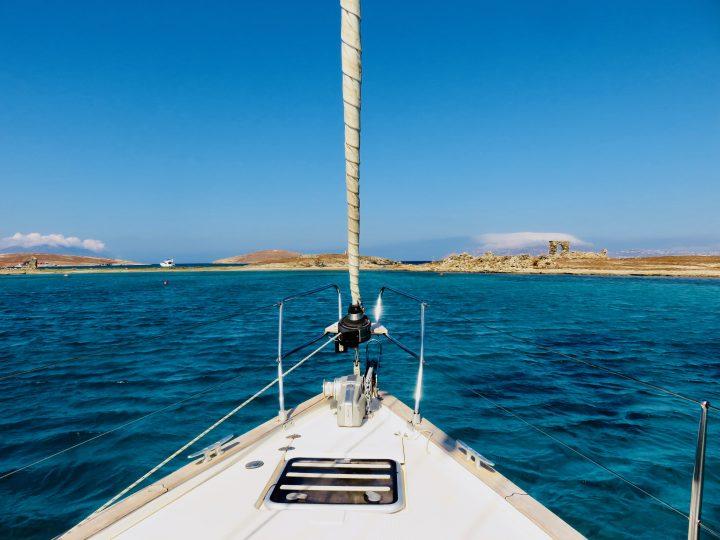 Sailing to Delos Greece, travel blog Greek Cyclades