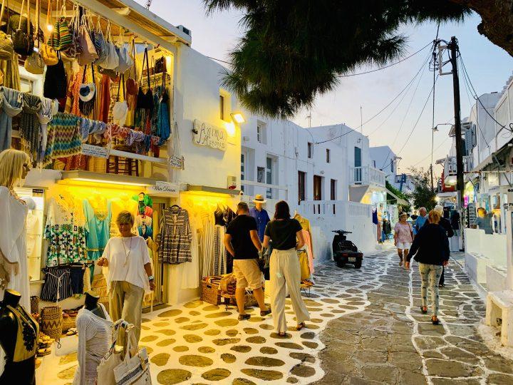Streets of Mykonos Greece, Greek Cyclades Travel Blog