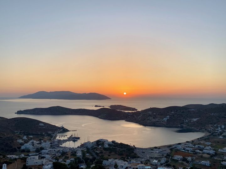 Sunset over Ios Greece, Greek Cyclades Travel Blog