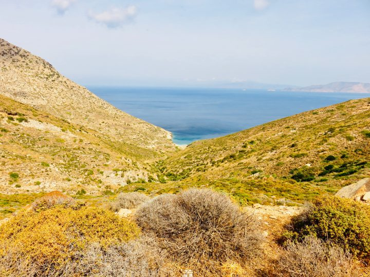 Viewpoint during motor trip Ios Greece, Greek Cyclades Travel Blog