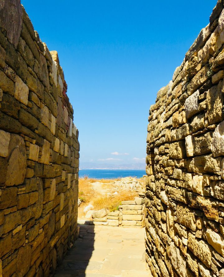 Walls of old town on Delos Greece, Greek Cyclades Travel Blog