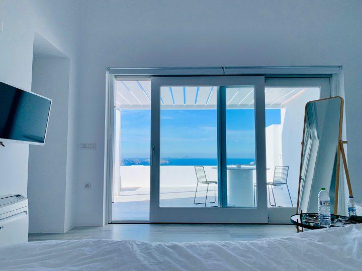 Accomodation White Ark room view Santorini Greece, Greek Cyclades Travel Blog