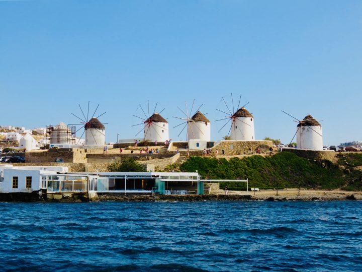 Famous five Windmills Mykonos Greece, Greek Cyclades Travel Blog