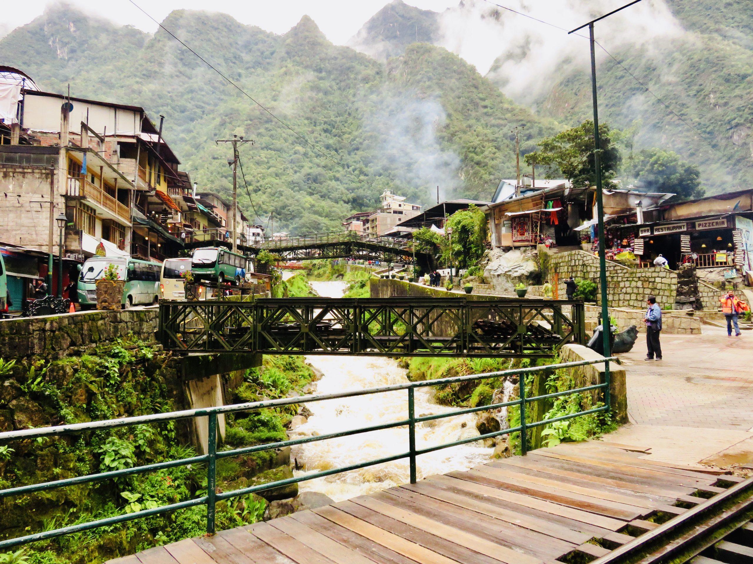 Town of Aguas Calientes Machu Picchu Peru, Travel Blog Peru