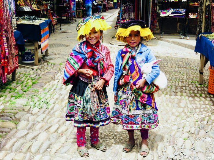Kids Market Pisac Sacred Valley Peru, Travel Blog Peru
