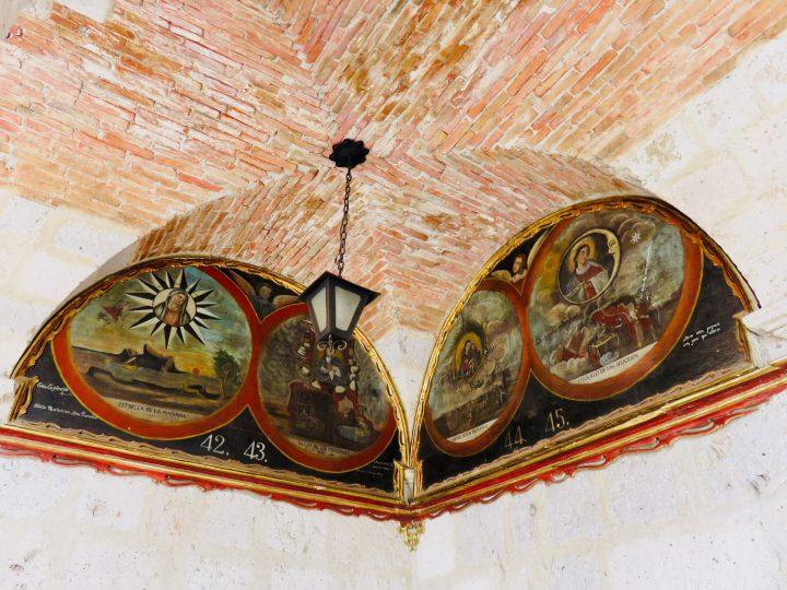 Old beautiful Painting at the Monasterio of Arequipa Peru, Travel Blog Peru