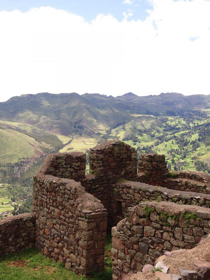 Archeological site the Pisac Ruins in the Sacred Valley Peru, Travel Blog Peru