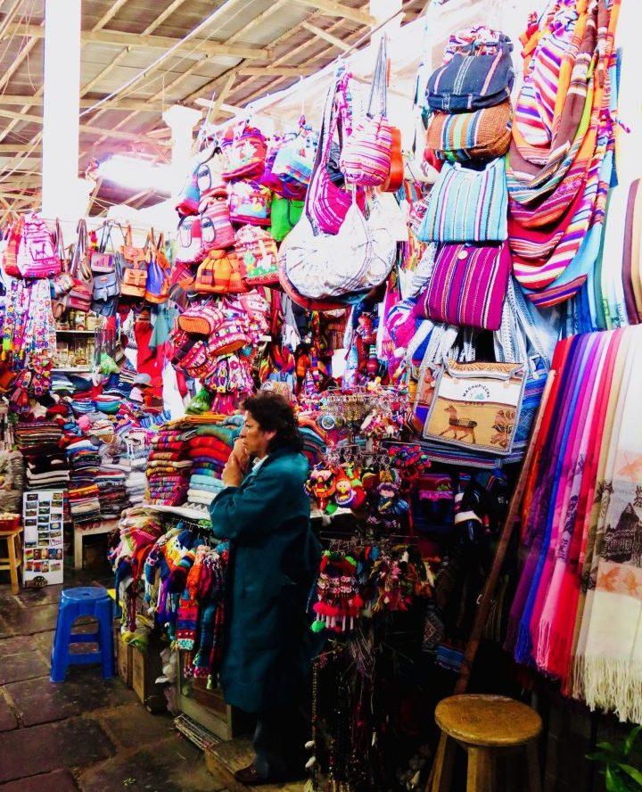 Market at Plaza San Francisco Cusco Peru, Travel Blog Peru