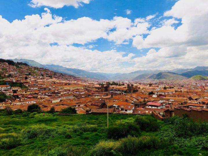View over the town of Cusco Peru, Travel blog Peru