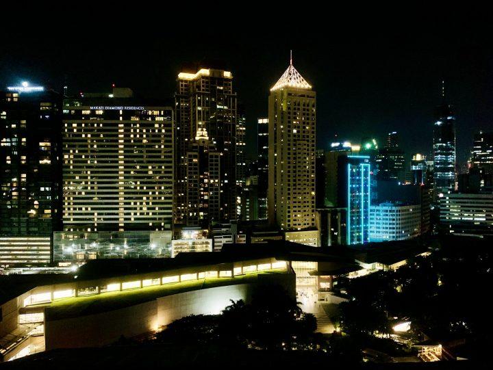 Skyline of Manila by night, Manila Philippines Travel Blog