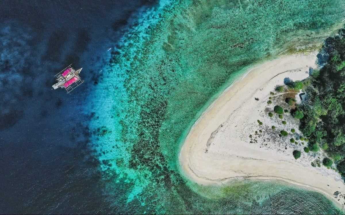 Drone Shot Palawan TAO Sailing Philippines Travel Blog