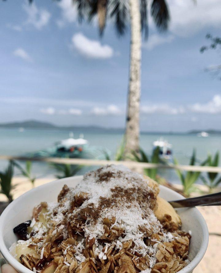 Deep Moon Oatmeal Breakfast Port Barton Palawan Philippines Travel Blog
