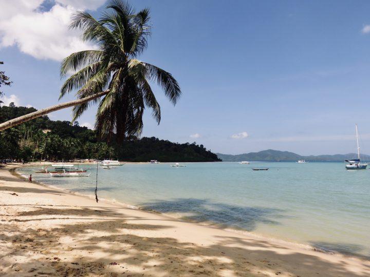 Overview beach Palm Port Barton Palawan Philippines Travel Blog