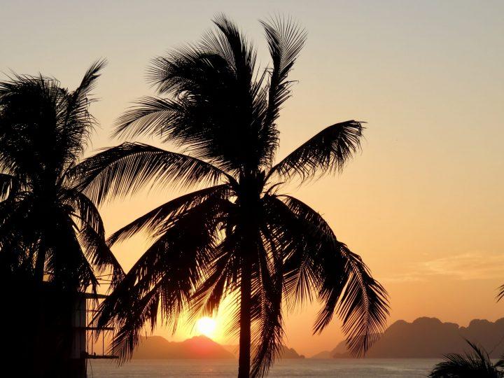 Sunset Corong Corong El Nido Palawan Philippines Travel Blog