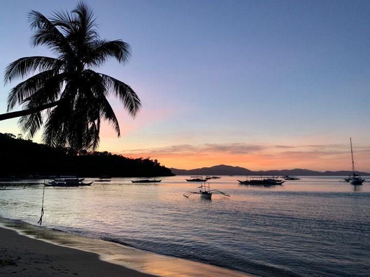 Sunset bay of Port Barton Palawan Philippines Travel Blog