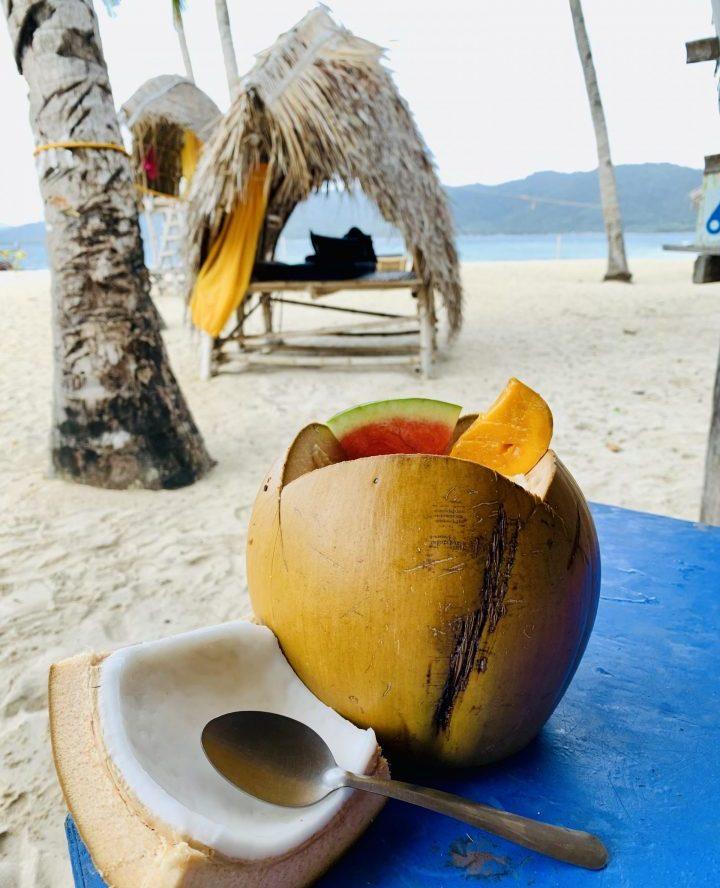 Coconut breakfast Food TAO Experience Philippines Travel Blog
