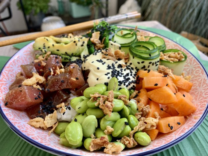 Poke Bowl Tuna Homemade Dinner and lunch Food, Food Blog Recipes and Inspirations