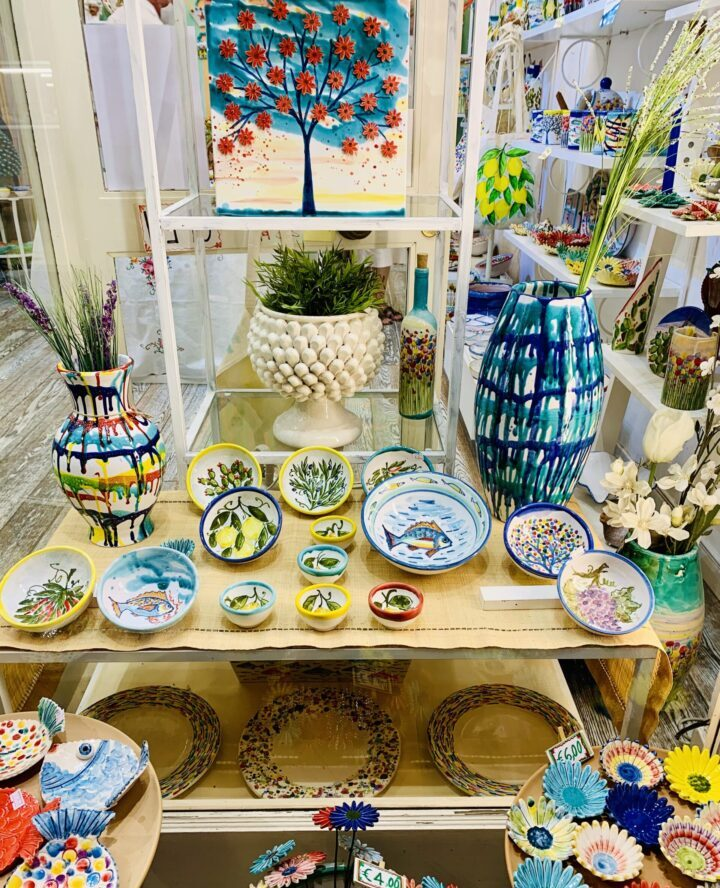 Ceramic shopping Taormina East Sicily Italy Travel Blog Inspirations