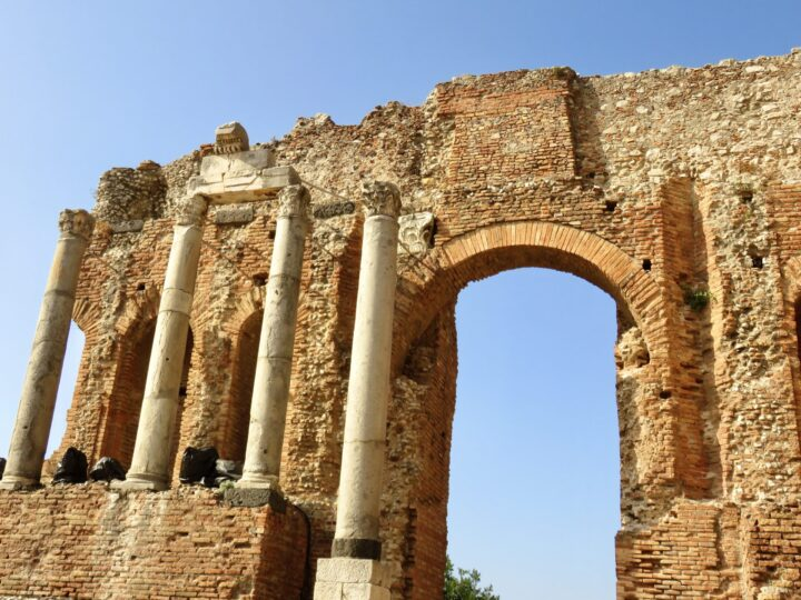 Taormina Greek Theater close up East Sicily Italy Travel Blog Inspirations