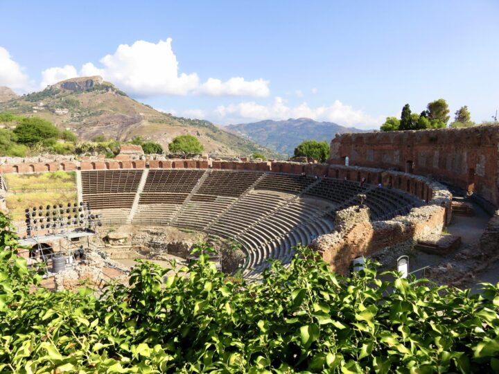 Taormina overview seats Teatro Greco East Sicily Italy Travel Blog Inspirations