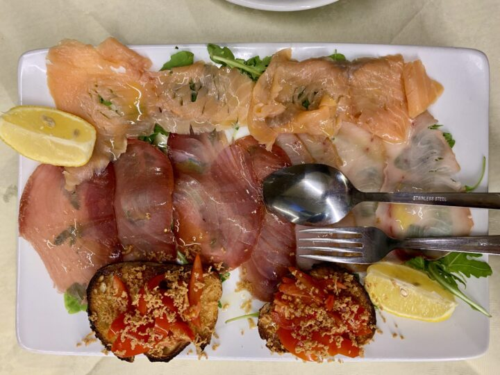 Antipasti fish Le Vele Trapani West Sicily Italy Travel Blog