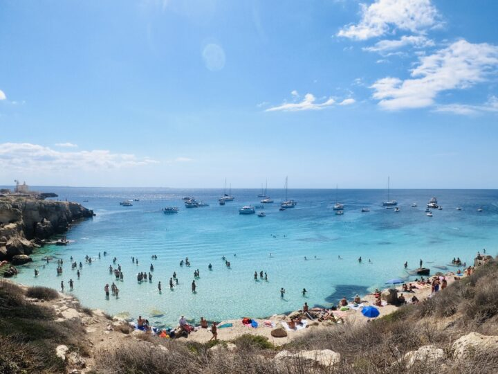 Cala Azzurra Sailing Egadi Islands Favignana West Sicily Italy Travel Blog