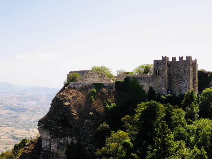 Castle of Venus view Erice Northwest Italy Travel Blog