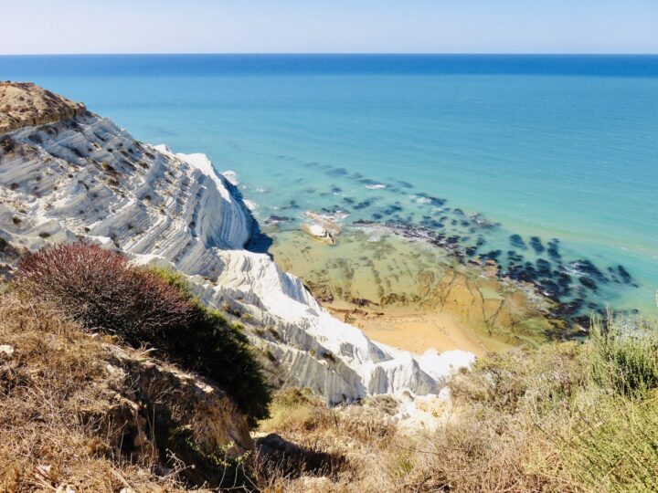 From above Scala dei Turchi Realmonte South Sicily Italy Travel Blog