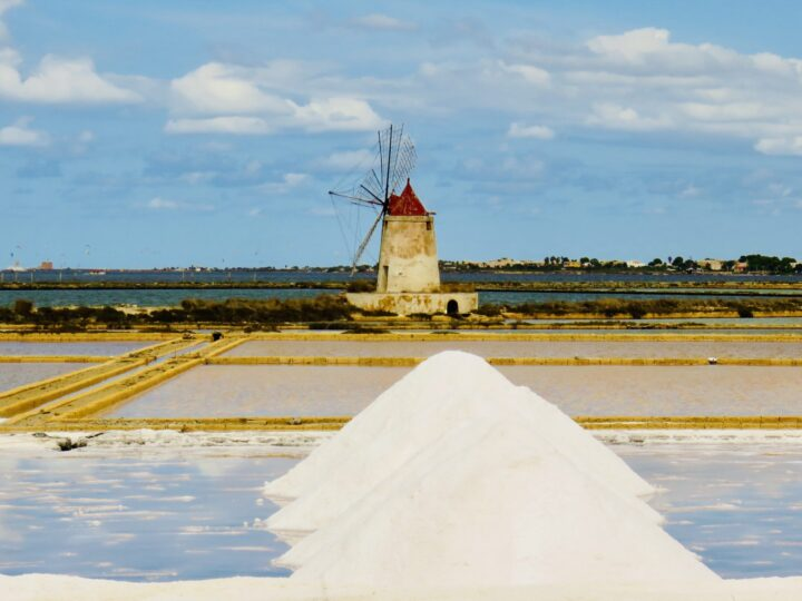 Salt Fields Windmill Stagnone di Marsala West Sicily Italy Travel Blog