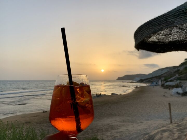 Sunset Drink Realmonte Scala dei Turchi South Sicily Italy Travel Blog