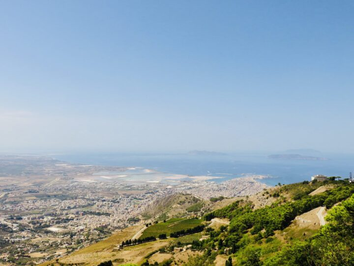 View over Trapani from Erice Northwest Italy Travel Blog