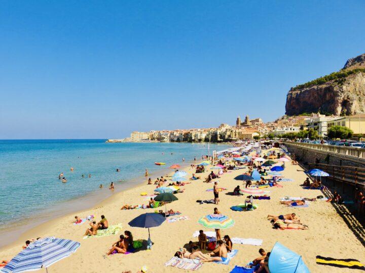 Cefalu Beach Tyrrhenian Coast North Sicily Italy Travel Blog