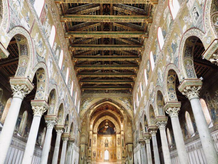 Inside Cattedrale di Monreale Monreale Palermo Region Sicily Italy Travel Blog