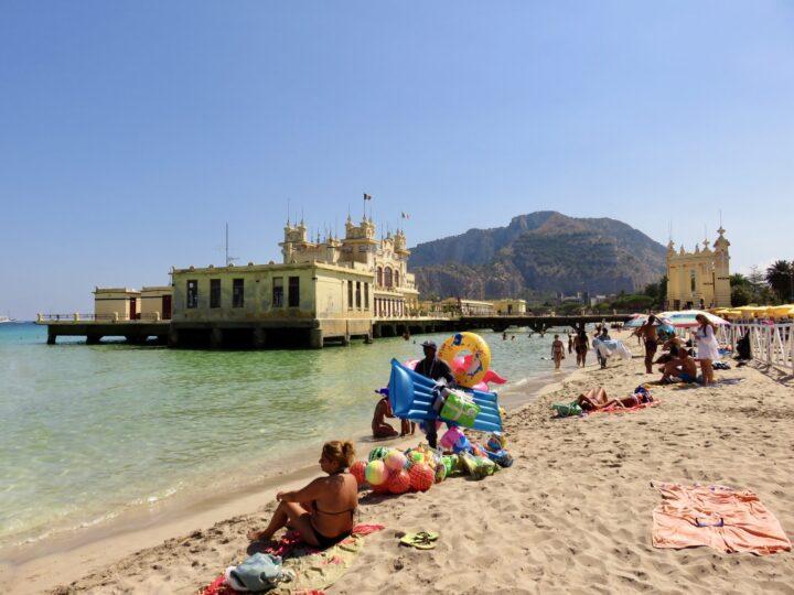Pier Mondello Beach Mondello Palermo Region Sicily Italy Travel Blog